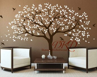 Family Tree Wall Decal, Tree Wall Decals For Nursery, Vinyl Sticker Wall Art,  Wall Decor DK271