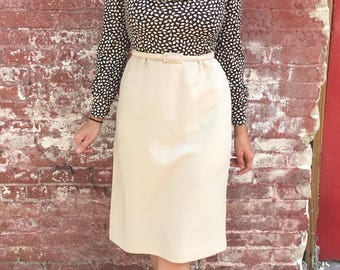 Sophisticated 1970s Secretary Dress