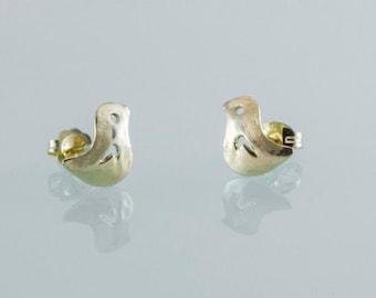 Solid gold 9k Bird Earrings.Bird Gold Earrings, Bird Stud Earrings, Animal Jewelry ,Baby Earrings, Small Earrings, Gift for Teen