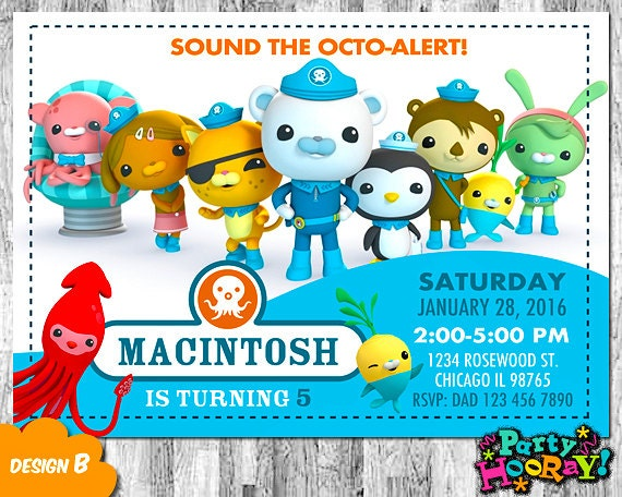 Octonauts Invitation Octonauts Birthday Octonauts Invite