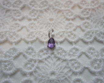 MOLLIE silver and Amethyst pendant