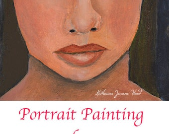Oil Portrait Painting. Original Small Art Painting. Apartment Wall Art Decor. Gift for Woman.