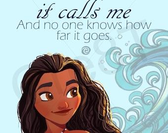 "Disney ""Moana"" Movie Quote Print"