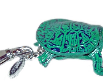 Green Turtle Purse Charm - Gift Accessory - Item# 3051