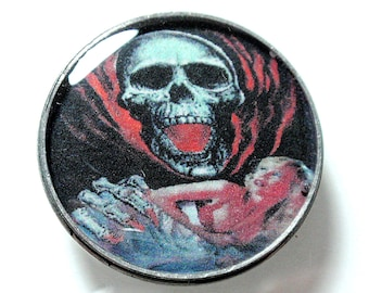 Horror Movie Photo Art Cabochon SCREAMING SKULL Jewelry Making Bow Center Mixed Media Phone Cases Decoden Scrap Booking Card Making A2