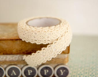 Raw Lace tape for wedding, baptism, xmas  1 roll
