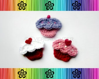 Sweet Cupcake Applique - CROCHET PATTERN