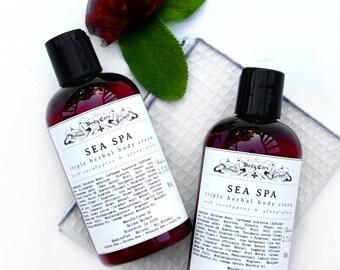 SEA SPA | Triple Herbal Body Cream, Body Lotion, Herbal Lotion, Hand Lotion, Natural Lotion, Natural Skin Cream, Hand Cream, Body Butter