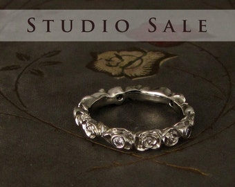 STUDIO SALE Ready-to-Wear Rosy Diamond Eternity Band (size 5.75)