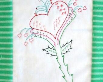 "PDF Stitchery Pattern ""Heartworks"" Embroidery"