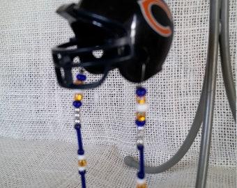Mini NFL Chicago Bears helmet rear view mirror charm
