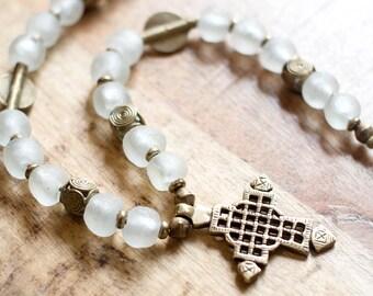 Ghana Meets Ethiopia Coptic Cross Necklace