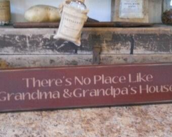 There's no place like Grandma and Grandpa's house,primitive,farmhouse, sign