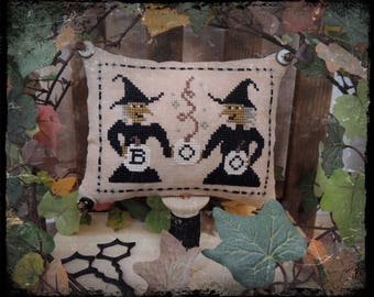Witch Sisters - PDF Cross Stitch Pattern