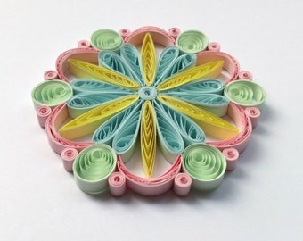 Quilled Snowflakes Paper Quilling Art Christmas Tree Decor Winter Hanging Ornaments Gifts Toppers Mandala Office Corporate Pastel Colors