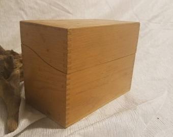 vintage hedges mfg wood recipe box