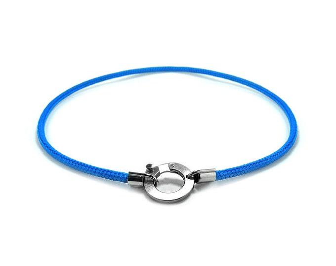 Nautical Rope Charm Holder Necklace Unisex Modern Design