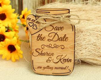 Wedding save the dates etsy mason jar save the date magnet wedding save the date wood save the date wood wedding junglespirit Gallery