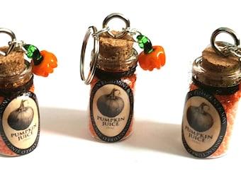 Pumpkin Juice Bottle Keyrings