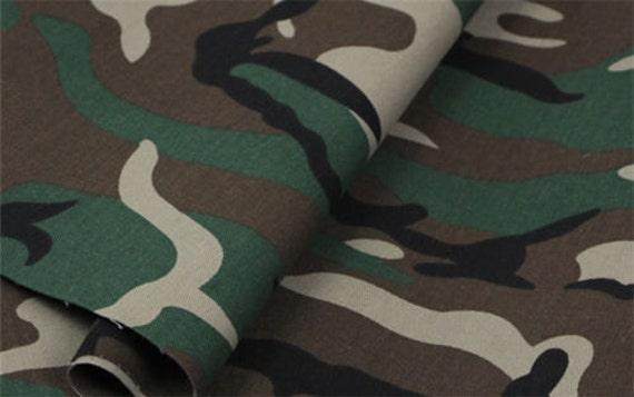 Groene leger Camo Camouflage stof gordijn bekleding uniforme