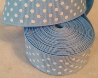 Blue Dot Ribbon | Grosgrain Ribbon | Bow Making Ribbon | Bow Supplies | Grosgrain Bow Ribbon |