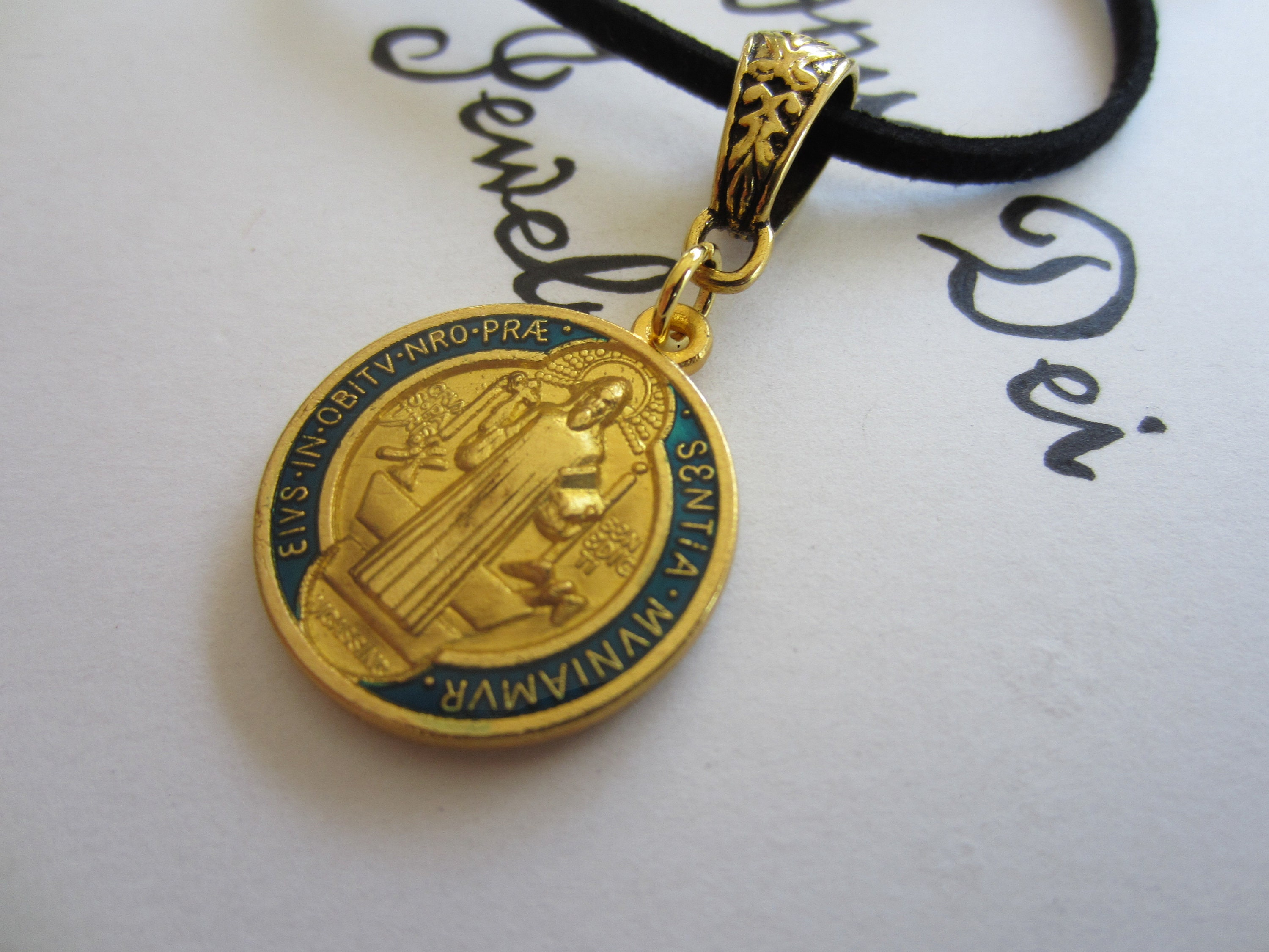 pendant fullxfull medal mehs necklace listing st il benedict zoom in set medallion made italy