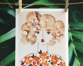 8x10 Botanical Portrait (Agatha)