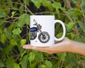 KillerBeeMoto: U.S. Made Coffee Mug  Limited Release Japanese Engineered 750cc  Motorcycle Mug (White)