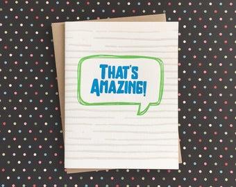 That's Amazing Letterpress Card