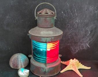 Vintage NAUTICAL Ship Boat Lantern TWEEKLEUR Electric Lamp