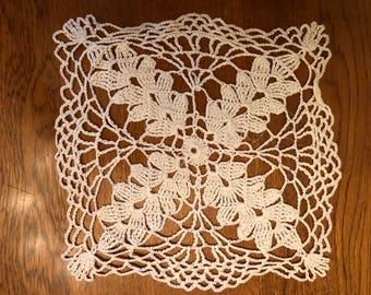 Vintage Crocheted Doily - Handmade