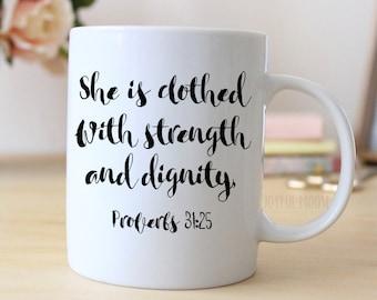 Proverbs 31 Coffee Mug - Christian Coffee Mug Gift