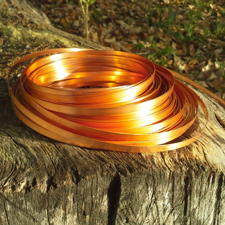24ga 1/8 wide copper strip dead soft USA made