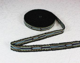 Woven Trim (6 yards), Woven Border, Cotton Ribbon, Grosgrain Ribbon, Dress Border, Border Trim, T13 (R156)