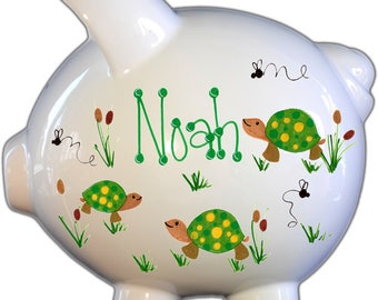 Ceramic Piggy Bank - Personalized Piggy Bank - Boy or Girl