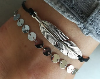 il kksf tibetan plated uk silver anklet feather chain market etsy