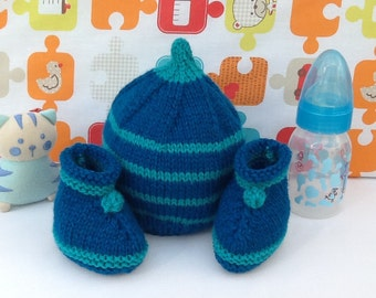 Beanie Baby booties wool knitted baby birth gift