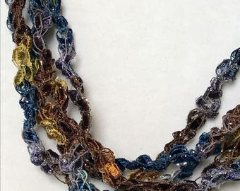 New! Midnight Mesa - Hand Crocheted Necklace
