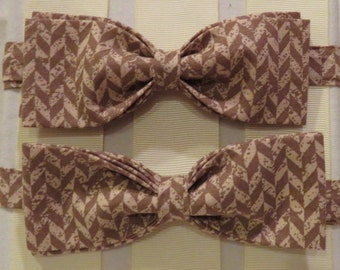 Tan and Beiges Vintage Bow Tie