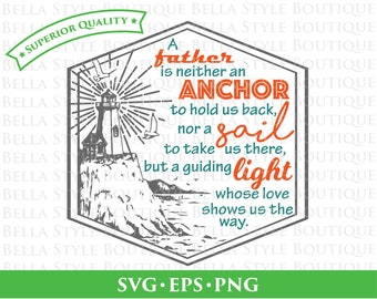 Nautical Father Dad Hipster Father's Day svg png eps cut file
