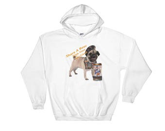 Pug Share A Beer With Your Best Friend Hooded Sweatshirt