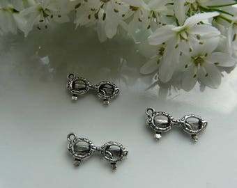 x 2 pendant silver sunglasses charms