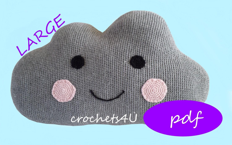 Crochet pattern cloud cloud pillow nursery crochet pillow zoom bankloansurffo Gallery