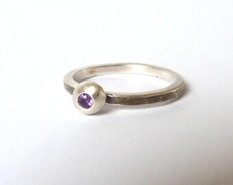 Amethyst Pebble Ring