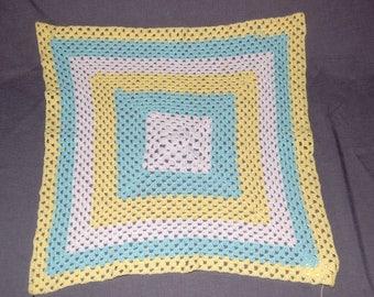Spring Baby granny square blanket ~