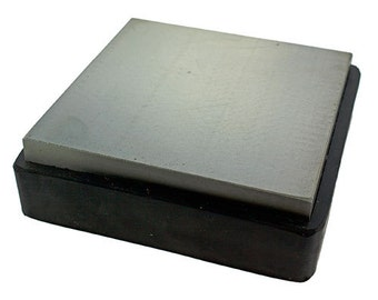 "Steel Bench Block with Removable Rubber Base 3-7/8"" x 3-7/8"" (AN545)"