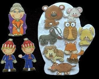 The Mitten  Felt Board Set // Flannel Board // Ukrainian Folk Tale // Children // Preschool // Kindergarten