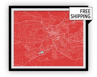 Nairobi Map Print - Choose your color