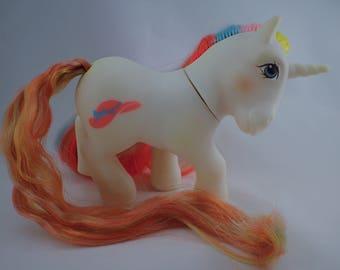 My Little Pony Mon Petit Poney MLP G1 Bouquet Unicorn 85 Brush 'n Grow Pony