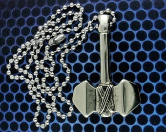 Brass Thor's Hammer Pendant Necklace, Free Shipping